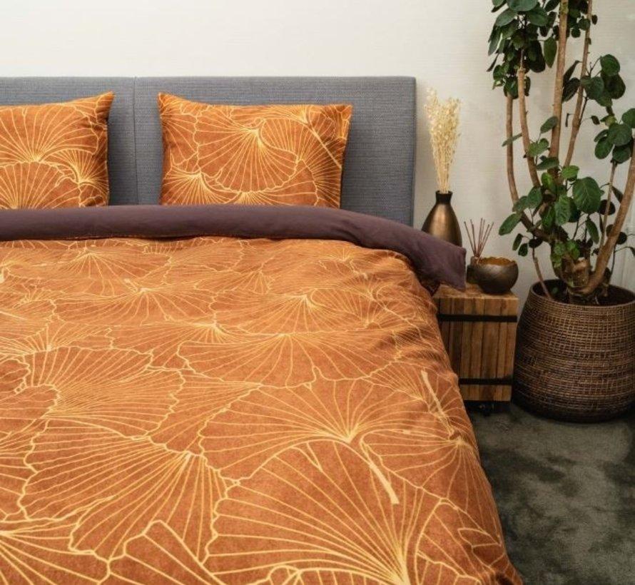 Biologisch Dekbedovertrek Katoen Satijn Fuji Leather