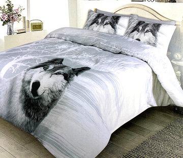 Refined Bedding Dekbedovertrek Flanel Winter Wolf