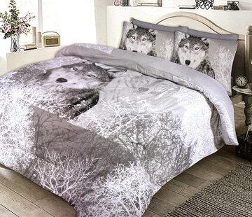 Refined Bedding Dekbedovertrek Flanel Wolf Forest