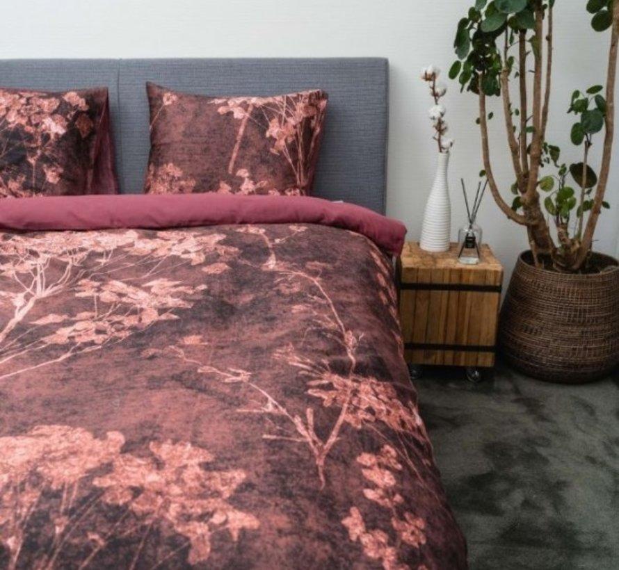Biologisch Dekbedovertrek Katoen Satijn Kimora Rood