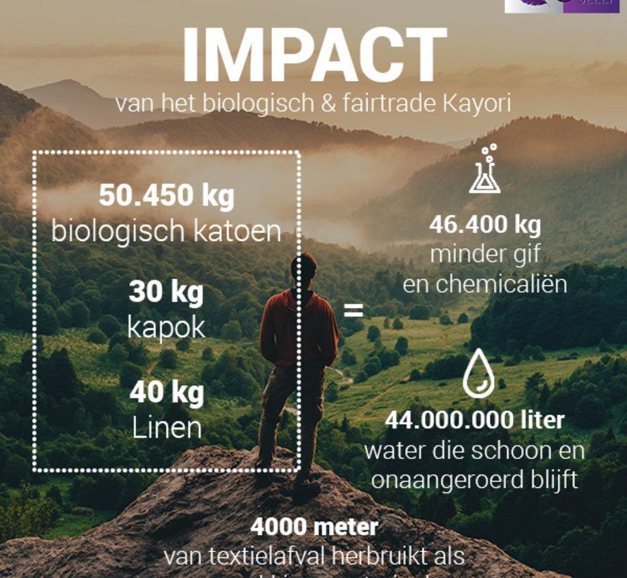 Biologisch Dekbedovertrek Katoen Satijn Hiyori Goud