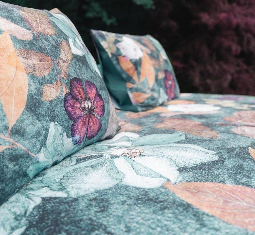 Biologisch Dekbedovertrek Katoen Satijn Furano Turquoise