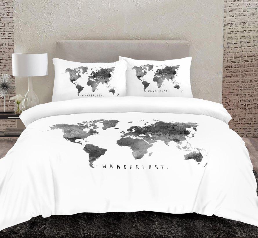 Dekbedovertrek Wanderlust Wereldkaart