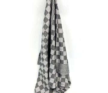 Suite Sheets Theedoek Geblokt Zwart  (set van 6) v.a €1,08 per stuk