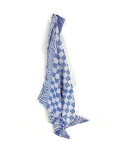 Suite Sheets Theedoek Geblokt Blauw (set van 6) v.a €1,08 per stuk