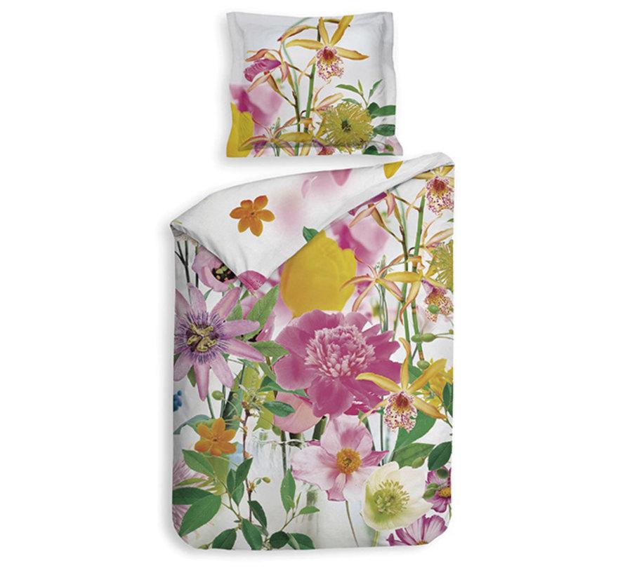 Katoen Satijnen Dekbedovertrek Flowers Thea Multicolor