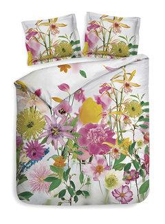 Heckett & Lane Dekbedovertrek Katoen Satijn Flowers Thea Multi