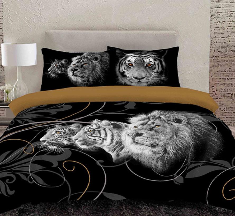 Dekbedovertrek Lion Black