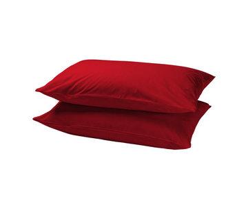 Suite Sheets Kussenhoezen Katoen Rood