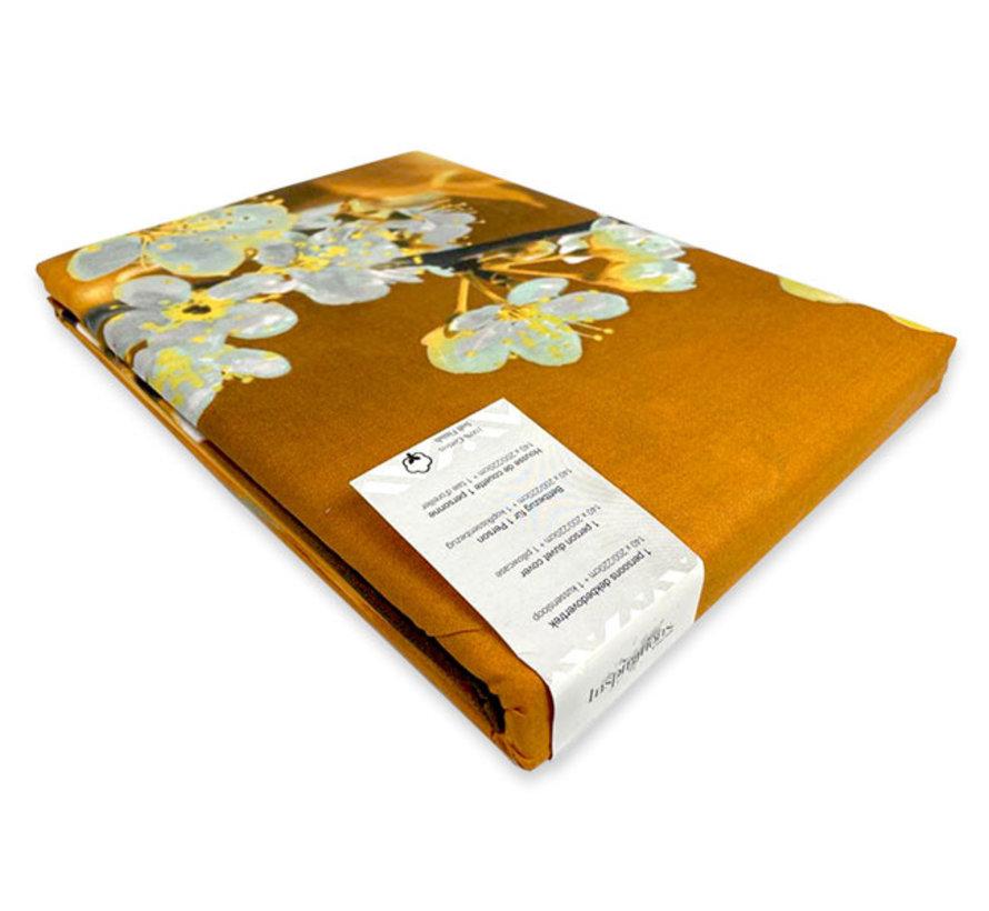 Katoenen Dekbedovertrek Blossom Yellow