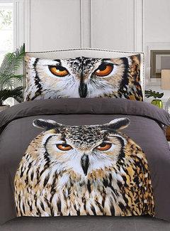 Inspirations Dekbedovertrek Katoen Owl Taupe