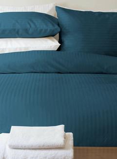 Beau Maison  Dekbedovertrek Katoen Satijn Hotel Line Blauw