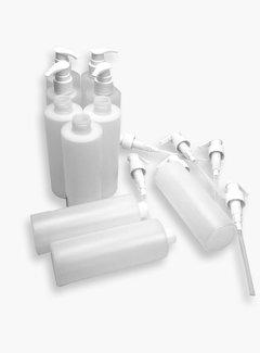 Lege 250 ML flesjes met pomp v.a. €0,60