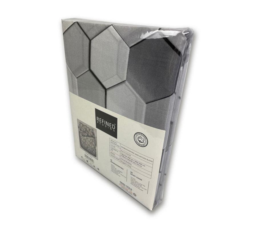 Origami Grey Dekbedovertrek Grijs