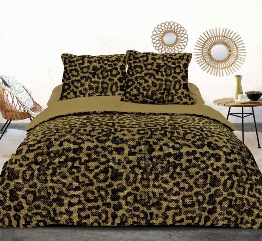 Panther Yellow Dekbedovertrek Zwart Geel