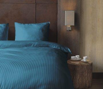 Beau Maison  Hotellinnen Blauw Katoen Satijn