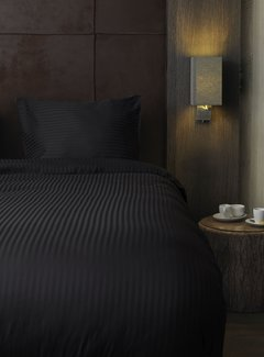 Beau Maison  Hotellinnen Zwart Katoen Satijn