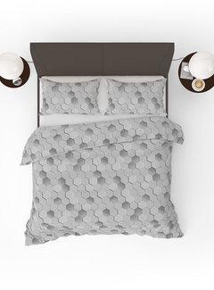Refined Bedding Dekbedovertrek Origami Grey