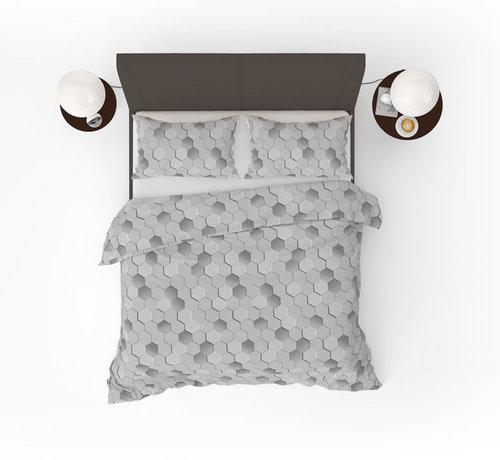 Refined Bedding Origami Grey Dekbedovertrek Grijs