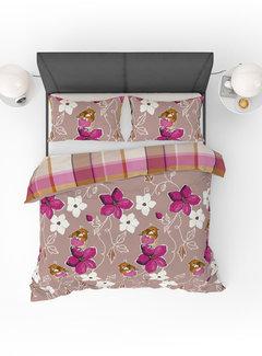 Refined Bedding Dekbedovertrek Birds Pink