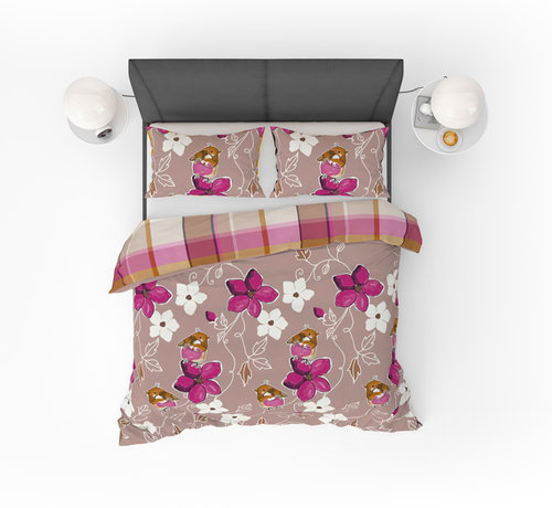 Refined Bedding Birds Pink Dekbedovertrek Roze