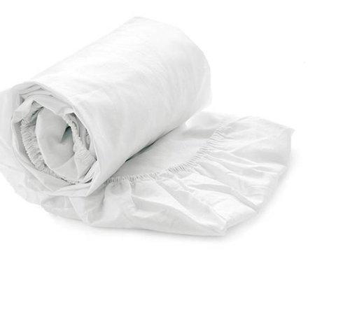 Heckett & Lane Hoeslaken Satijn Wit - White - 100% Katoen Satijn