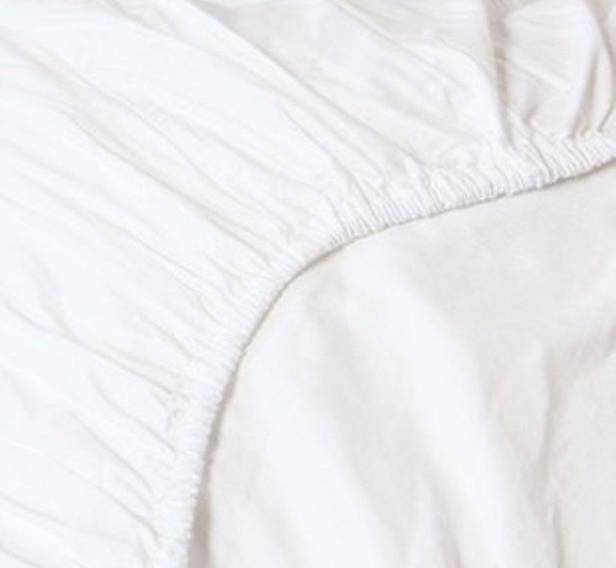 Hoeslaken Satijn Wit - White - 100% Katoen Satijn