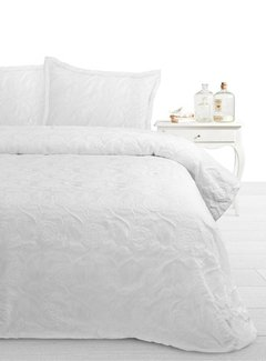 Fancy Bedsprei Pure White
