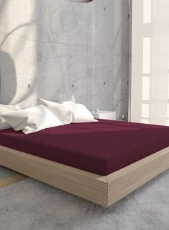 Suite Sheets Jersey Hoeslaken Bordeaux