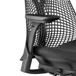 Herman Miller Sayl zwart, 4D armleggers