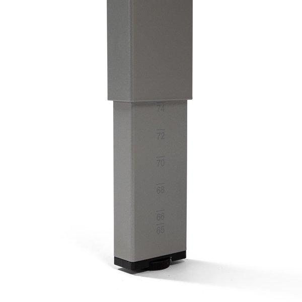 Bureautafel PP design aluminium