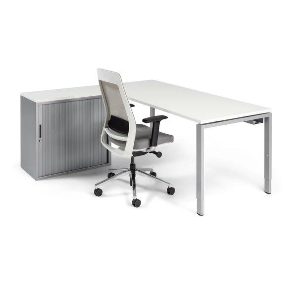 Hoekbureau PP Design Store aluminium