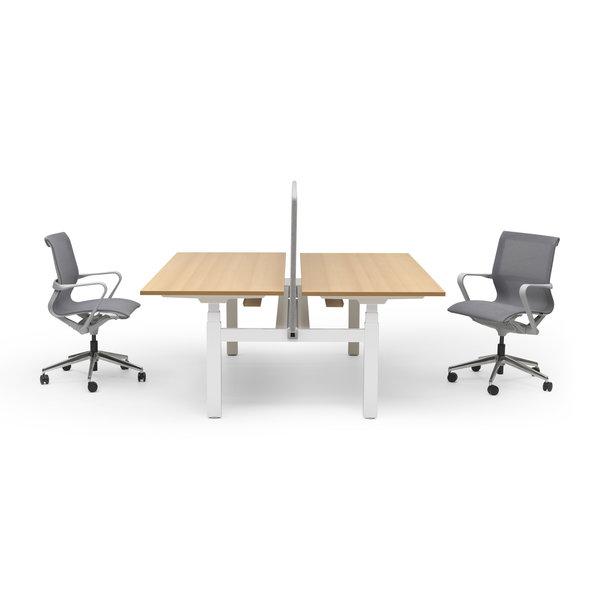 Duo zit sta bureau |  InMotion wit - beuken
