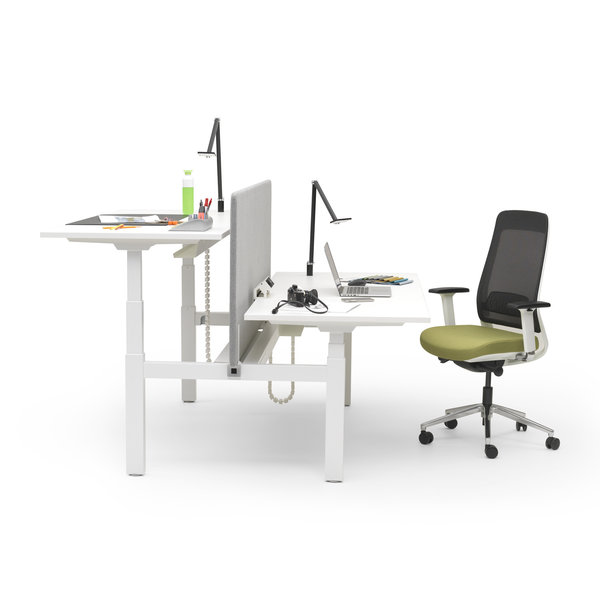Duo zit sta bureau |  InMotion wit - wit