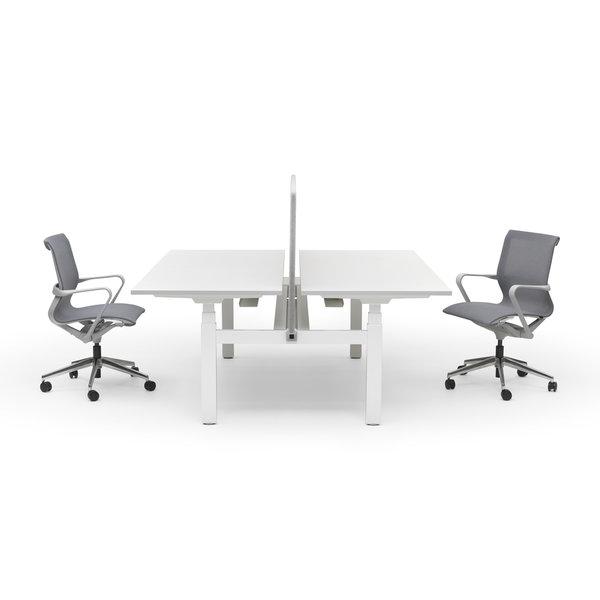 Duo zit sta bureau |  InMotion wit - grijs