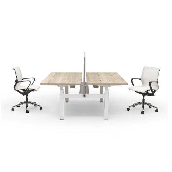 Duo zit sta bureau |  InMotion wit - natuur eiken