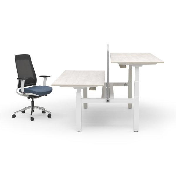 Duo zit sta bureau |  InMotion wit - licht eiken