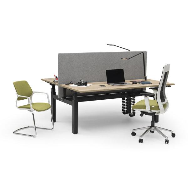 Duo zit sta bureau |  InMotion zwart - grijs
