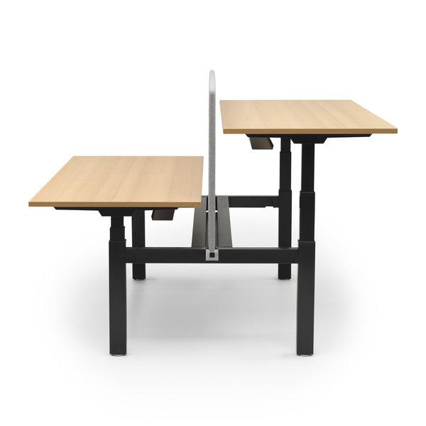 Duo zit sta bureau |  InMotion zwart - beuken