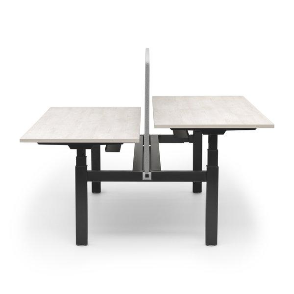 Duo zit sta bureau |  InMotion zwart - licht eiken