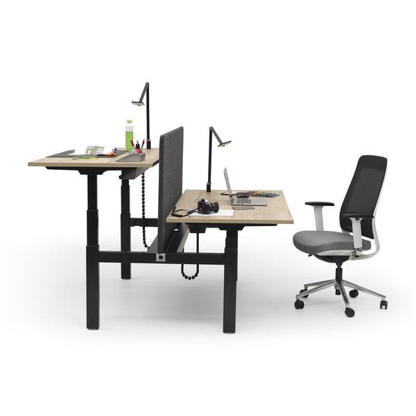 Duo zit sta bureau |  InMotion zwart - donker eiken