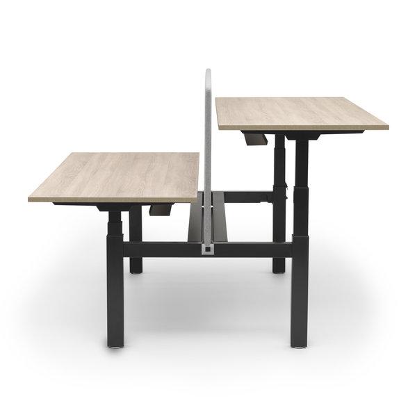 Duo zit sta bureau |  InMotion zwart - midden eiken