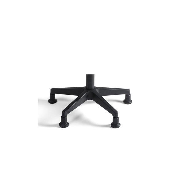 Werkkruk Tabouret stof hoog zwart
