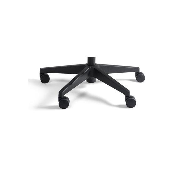 Werkstoel nylon laag zwart