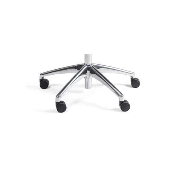 Werkstoel nylon laag aluminium