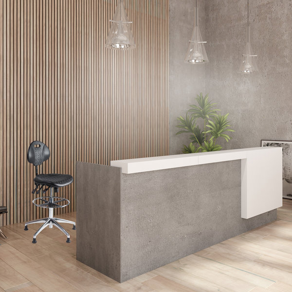 Werkstoel nylon hoog aluminium