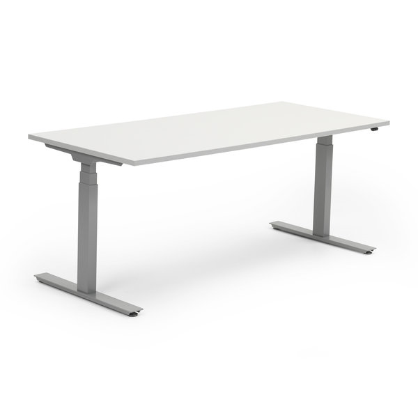 Zit sta bureau InMotion aluminium - grijs