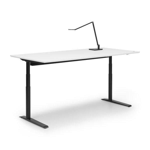 Zit sta bureau Invito zwart | Polar white
