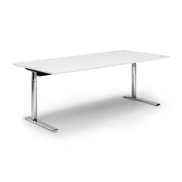 Zit sta bureau Invito chroom | Polar white