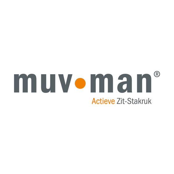 Zit-sta werkkruk Muvman Factory Zwart